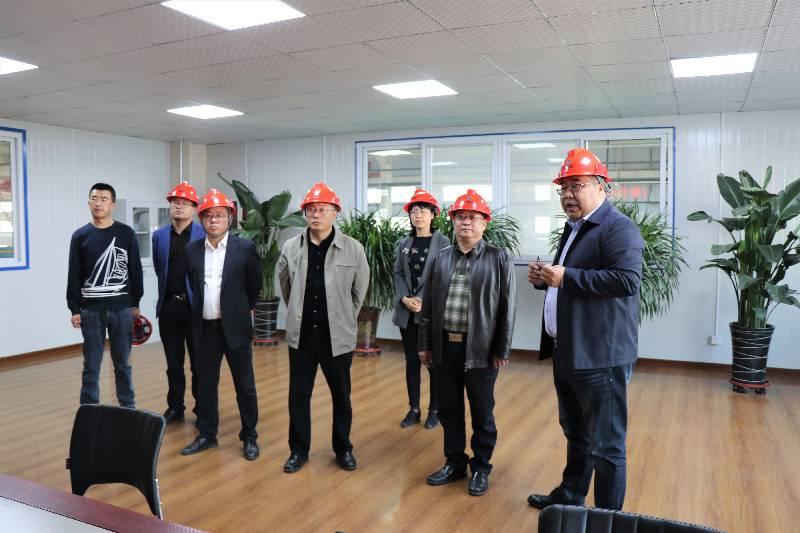河北省住建厅领导到中铁沧盐公司调研